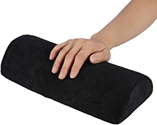 Hand Cushion,Nail Art Soft Sponge Pillow - Nail Art Table Mat Holder Pad, Salon Hand Rest Cushion,Detachable Washable Arm Rest Holder,Manicure Makeup Cosmetic Tools(Black)