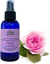 White Sage & Rose Smudge Spray (4 oz.) with Reiki Charged Rose Quartz Crystal & Archangel Chamuel Essence, 4 Oz