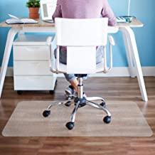 Elegear Heavy Duty Hard Floor Chair Mat, Home Office Non-Breakable Clear Floor Mat, Laminate and Tile Floor Protector for Office Desk Chair, Easy Glide, No Curling (47'' x 35'', 0.05'' Thickness)