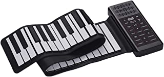 Decdeal Multifunction Portable Electric 61 Keys Hand Roll Up Piano Flexible Silicone Piano Keyboard Built-in Speaker Recha...