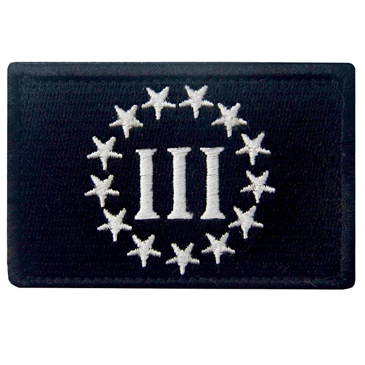 Three Percenter Tactical Morale Patch Embroidered Military Applique Fastener Hook & Loop Emblem