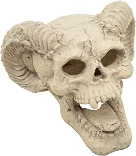 Stanbroil Demon Fireproof Fire Pit Fireplace Skull Gas Log for All Types of Gas Inserts, Ventless & Vent Free, Propane, Gel, Ethanol, Electric, Outdoor Fireplace and Fire Pit, Halloween Decor, 1pk