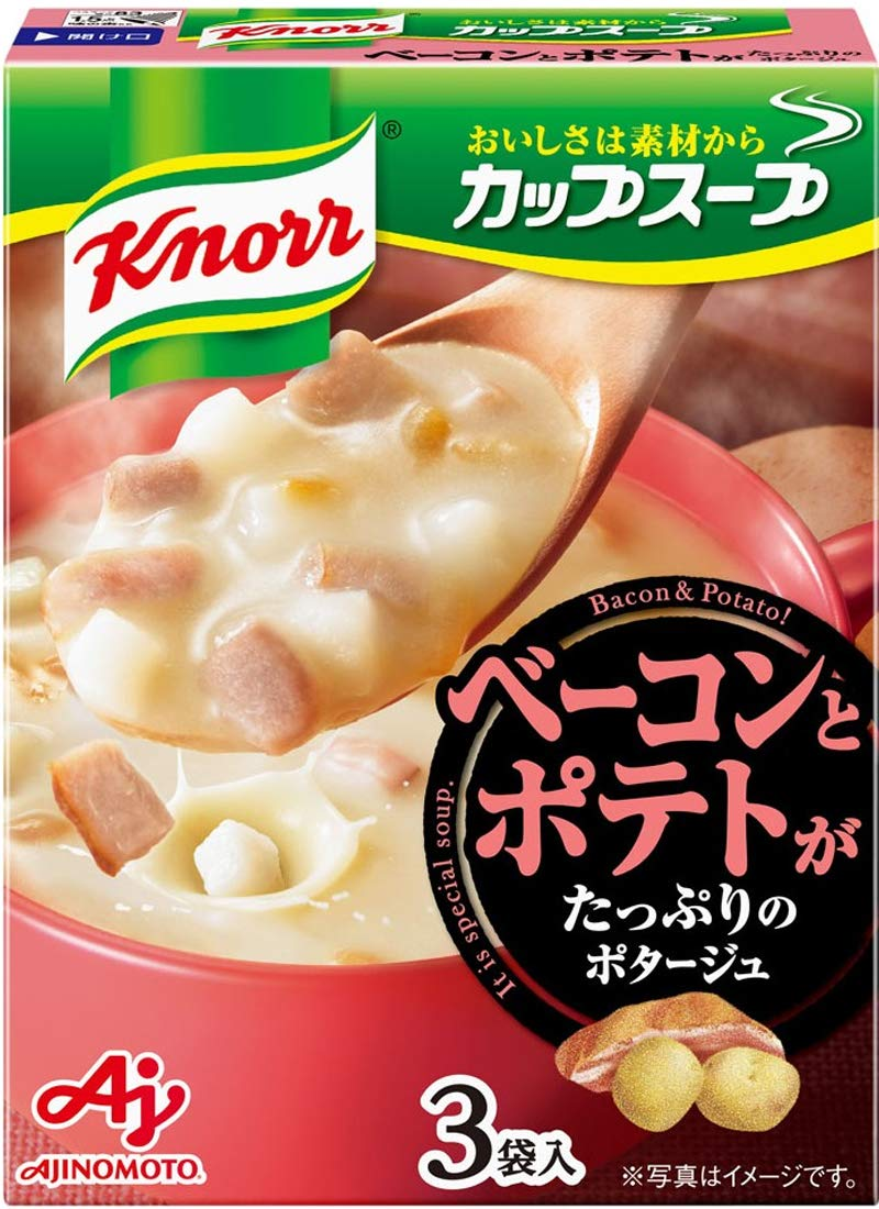 Ajinomoto Knorr Cup Soup bacon and plenty Easy-to-use of four Popular products 48.3g potage ~