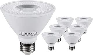 TORCHSTAR PAR30 Short Neck LED Spot Light Bulb, Dimmable, 12W 75W Equiv, High CRI90+, 3000K Warm White, 840Lm, E26 Base, Energy Star & UL Listed LED, 3 Year Warranty, Pack of 6