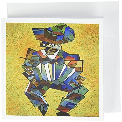Der Player Akkordeon, Ziehharmonika, Melodeon, Squeezebox–Grußkarten, 15,2x 15,2cm, Set 12(GC 46760_ 2)
