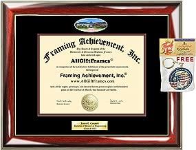 University Texas San Antonio Diploma Frame UTSA Graduation Gift Idea Engraved Picture Frames Engraving Degree Certificate Holder Graduate Him Her Nursing Business Engineering Education School