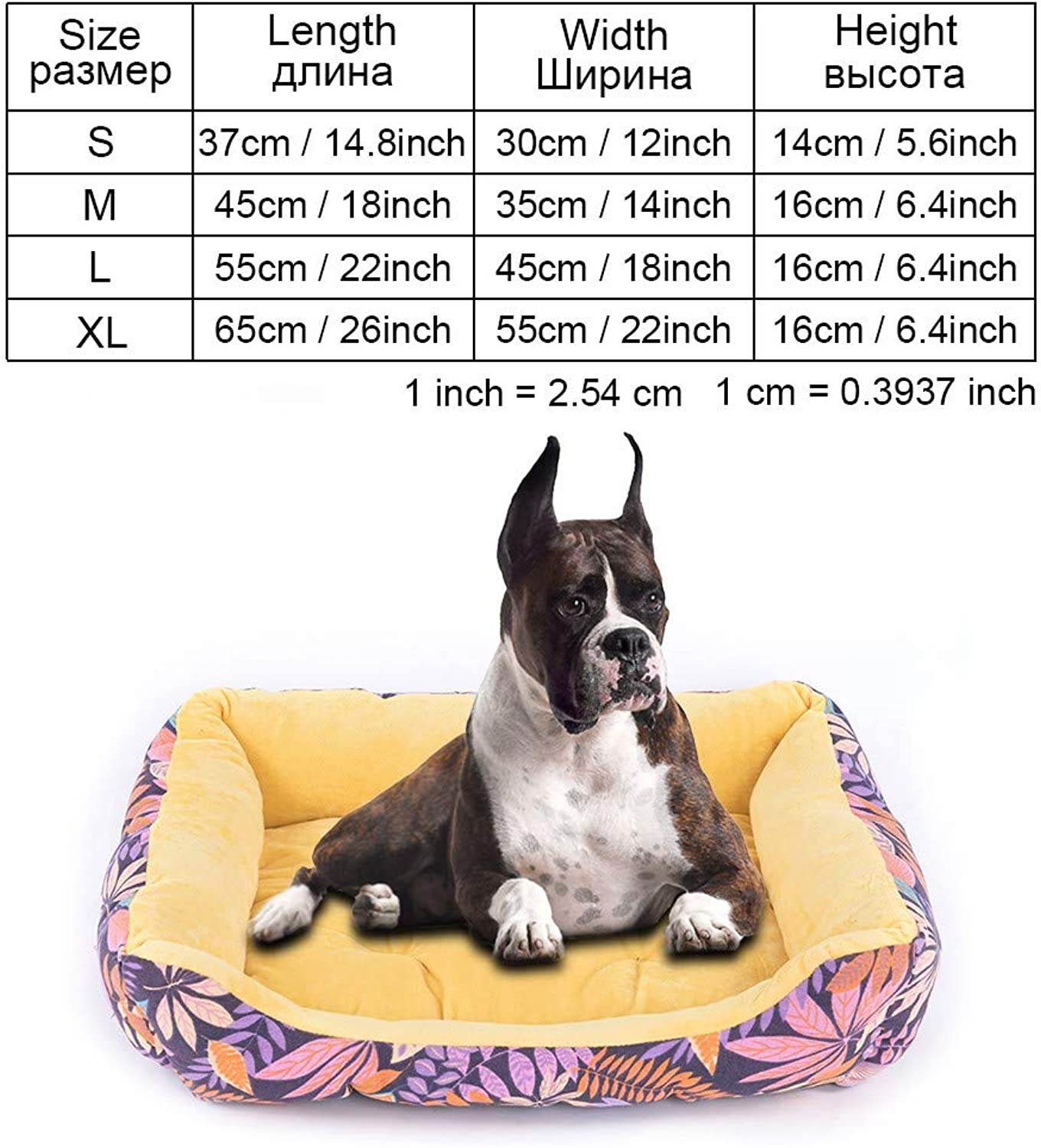 Cookisn Dog Bed Bench for Dogs Pet Products Puppy Bed House for Cat Dog Beds Mat Sofa Lounger for Small Medium Large Dogs Cat Pet Kennel yellowCOO041 M 45x35cm