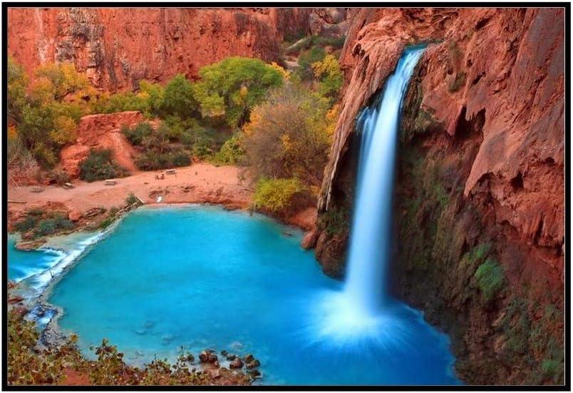 Beautiful Waterfall - Havasu San Antonio In a popularity Mall Falls Supai Framed 24x16 Arizona