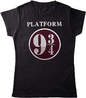 Planet Superheroes Harry Potter Womens T-Shirt - Platform 9 & 3/4 (Grey)