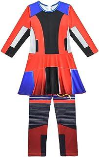 Evie Dress Disfraz de Halloween para ninos Adultos,