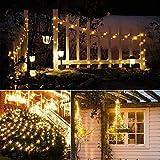 Catena Luminosa Solare, 20M Stringa Luci Solari 200 LED / 8 Modi, Impermeabili Luci Decorative da Interni e Esterni per Festa, Giardino, Natale, Halloween, Matrimonio (Bianco Caldo-5)