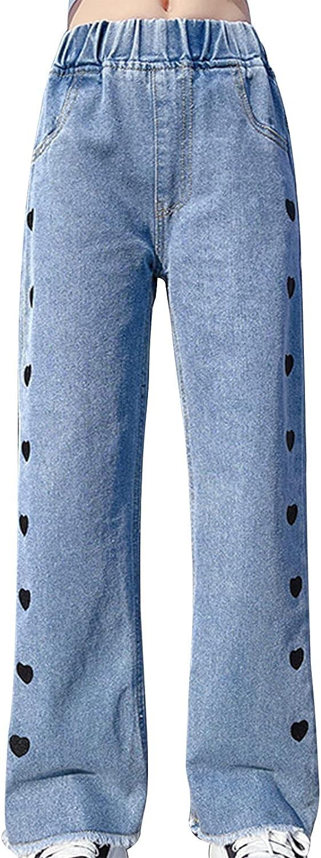 Jizyo Little Girls Fashion Denim Casual Waist Elastic Recommendation Leg Wide P Ranking TOP20