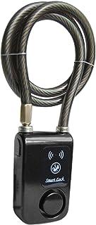 Waterproof Smart Bluetooth Keyless Bike Lock, APP Unlocked Anti-theft IP44 Splash-Proof Cycling Lock with 110db Alarm for ...