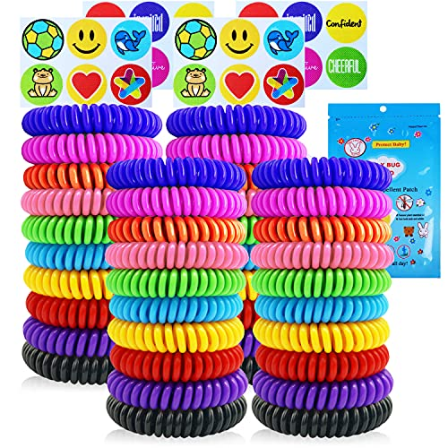 40 Pack Mosquito Repellent Bracelets, Individually Wrapped DEET-Free Insect & Bug Repellent Wrist Bands for Kids & Adults Outdoor Camping Fishing Traveling