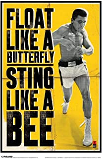 Pyramid America Muhammad Ali Float Like A Butterfly Laminated Dry Erase Sign Poster 12x18