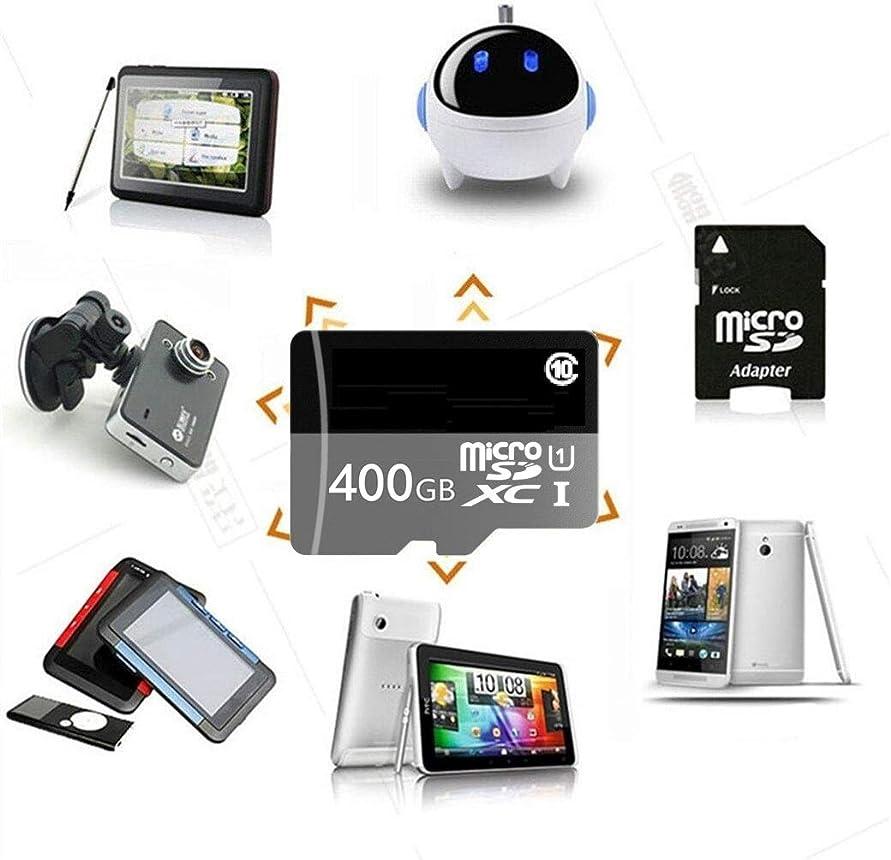 尾何よりもブル400GB Micro SD SDXC メモリーカード高速クラス10 Micro SDアダプター付き Androidスマート用に設計