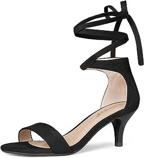 Women's Kitten Heel Lace up Sandals