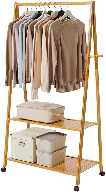 DQMSB Coat Rack Floor Solid Wood Bedroom Hanging Clothes Rack Finishing Living Room Storage Coat Racks (color   C, Size   60  40  165cm)
