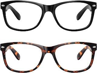 MEETSUN 2 Pack Blue Light Blocking Glasses Women/Men,Retro Computer Reading/Gaming/TV/Phones Glasses,Anti Eyestrain&Headache