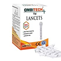 [Lightning Deal] AmbiTech Flat Type Institution/Hospital Glucometer Lancets (500 Nos) worth Rs. 4990 for Rs. 699 - Amazon