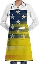 Bralla Gadsden Flag Bib Apron with Convenient Pockets for Women and Men