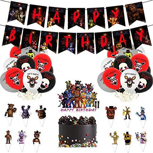 Kit de Decoraciones de Cumpleaños de Transformers Globos de Transformers Globos de Látex de Transformers Cupcake Toppers Pancarta de Fiesta de Suministros de Fiesta Temáticos de Superhéroes