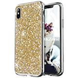 OKZone Coque iPhone XS Max, Mince Étui en Silicone Souple Paillette Strass Brillante...