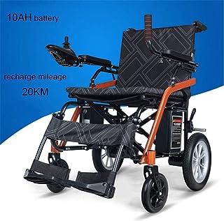 De peso ligero plegable sillas de ruedas eléctrica Silla de ruedas eléctrica plegable, sillas de ruedas compacto automático inteligente de edad avanzada de energía, la batería de litio 10AH / 20 kg de