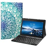 Fintie Tastatur Hülle für Lenovo Tab E10 TB-X104F 10,1 Zoll Tablet 2019 - Superdünn Ständer Schutzhülle mit magnetisch abnehmbar drahtloser Deutscher QWERTZ Bluetooth Keyboard, Smaragdblau