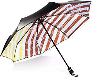 GHMOZ Oil Painting Creative Folding Umbrellas UV Protection Umbrellas Rain and Rain Umbrellas Vintage Umbrellas (Color : A)
