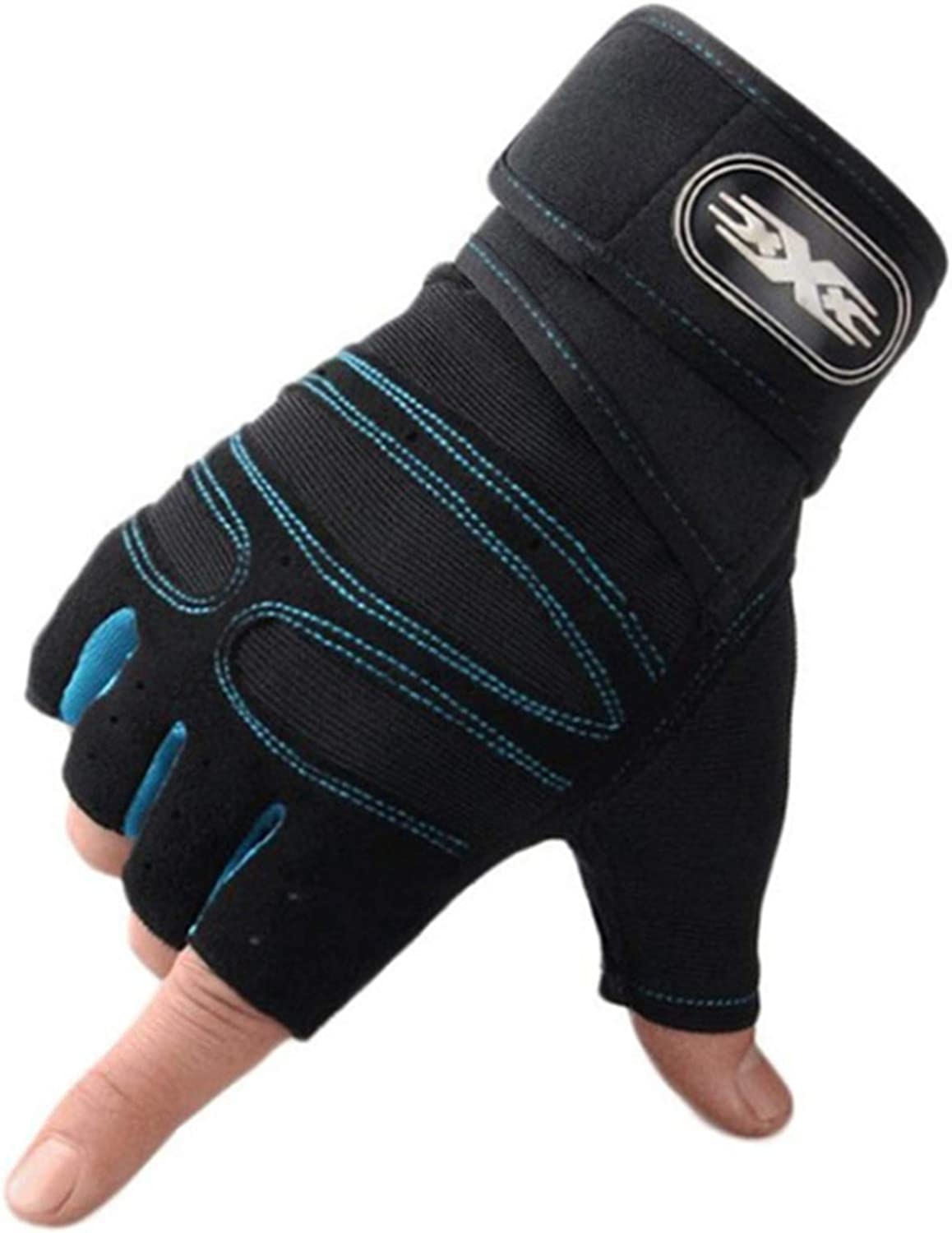 Unisex Gloves for Workout Fitness Half Finger Glove Anti-Slip Gym Bodybuilding Mittens for Adults