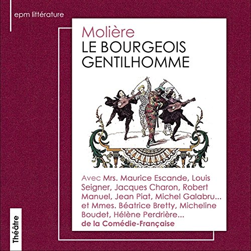 Le Bourgeois gentilhomme audiobook cover art