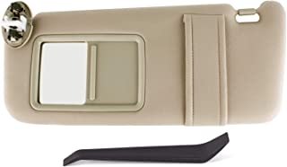 UNIGT Sun Visor Assemby for 2007-2011 Toyota Camry/Hybrid Drivers Left Sunvisor Replaces Part # 74320-06800-E0 with Vanity Light Control and Instruction- Beige