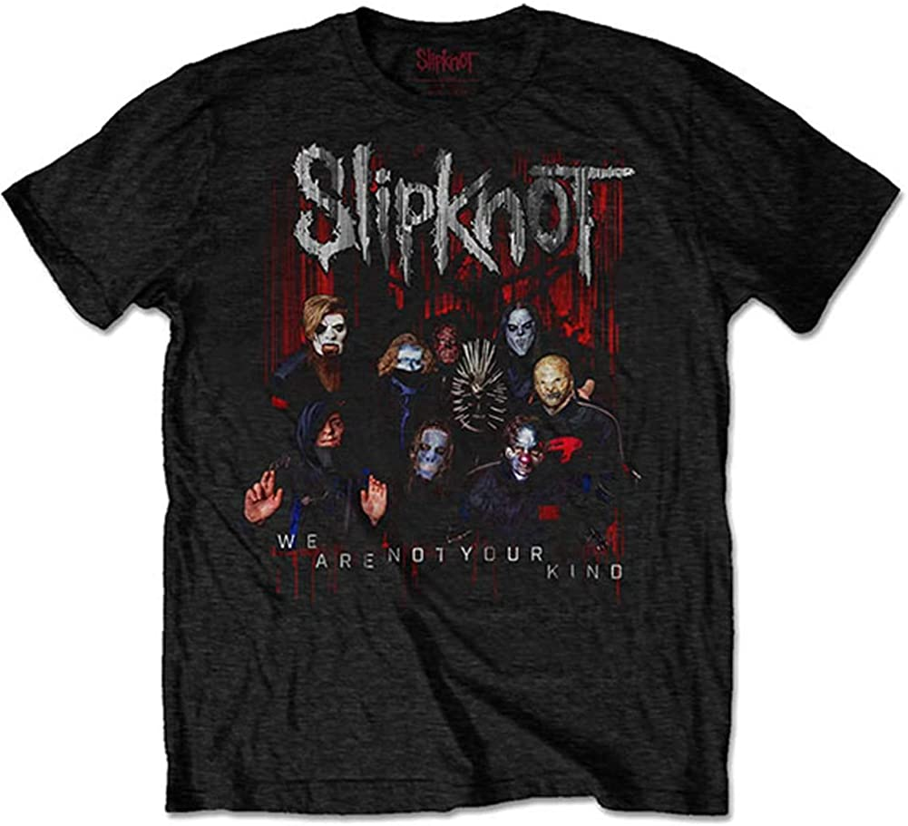Slipknot Men's WANYK Fees free Group Photo Back X Slim Fit Print T-Shirt 67% OFF of fixed price