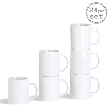Argon Tableware Juego de Tazas Blancas para el café o té ...