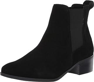 Steve Madden حذاء Dover للكاحل للنساء ، جلد سويدي أسود، 11