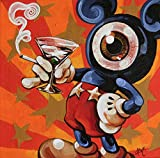 Mono Mickey by Mike Bell Mouse Martini Canvas or Paper Art Print for Framing