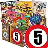5. Jahrestag | Ossi Schokolade | GRATIS DDR Kochbuch | Schokoladen Geschenke 'Zahl 5' in ostalgischer Geschenkverpackung | mit Zetti Knusperflocken, Mokka...