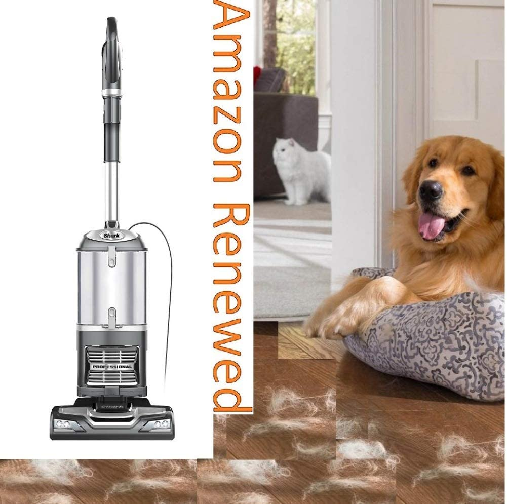Shark Navigator CU500 Upright Vacuum with Self-Cleaning Brushroll Lift-Away TruePet Upright Corded Bagless Vacuum for Carpet and Hard Floor with Hand Vacuum and Anti-Allergy Seal Renewed