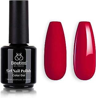 Beetles Gel Nail Polish Rebecca Red Color Soak Off LED Nail Lamp Gel Polish .5 fl.Oz 5 ml Each Gift for Women DIY Nail Art