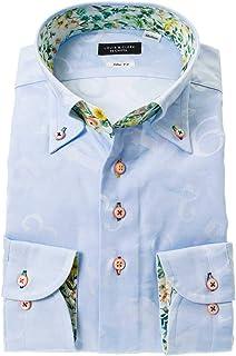 ドレスシャツ ワイシャツ カッターシャツ シャツ STYLE WORKS(スタイルワークス 長袖 綿:100% ボタンダウ ボタンダウン メンズ 柄シャツ 派手シャツ|RLD806-151