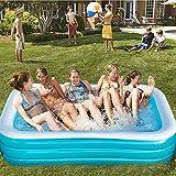 YQZ Piscinas inflables Fast Set de 3 Capas para niños y familias, 102''x 68.8''x23.6 '' Piscina Rectangular Azul Interior al Aire Libre, Fiesta de Verano
