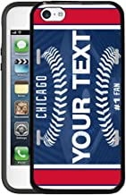 BRGiftShop Customize Your Own Baseball Team Chicago Blue Rubber Phone Case for Apple iPod Touch 5th & 6th Generation