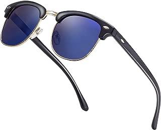 Semi Rimless Polarized Sunglasses Men Women Classic Half Frame Retro Sun Glasses