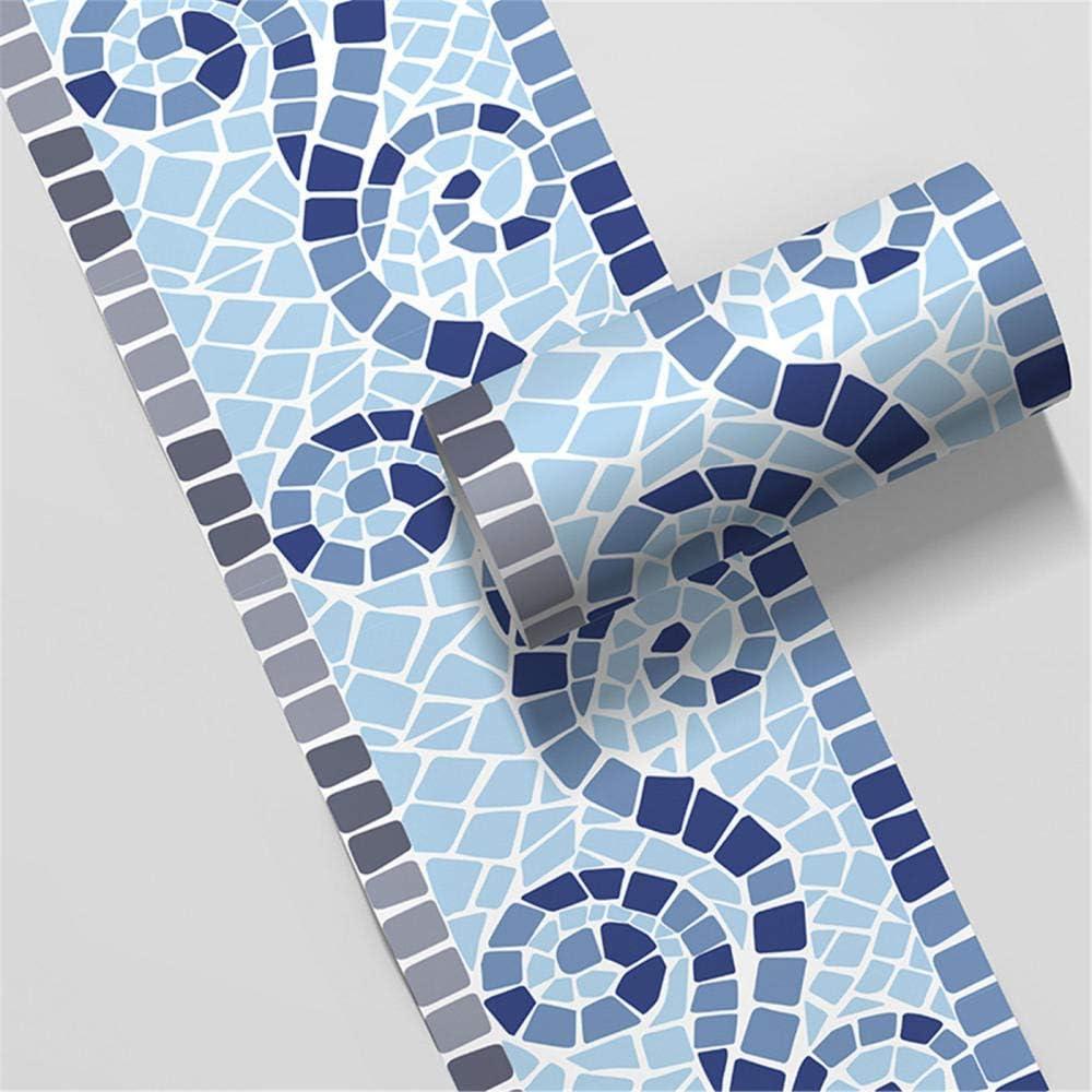 Bordure de papier peint Carr/é r/étro D/écoration murale amovible Frise Murale Autocollant Papier Peint Autocollant imperm/éable en PVC Plinthe 10cm X 500cm