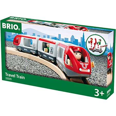 BRIO World Travel Train for Kids Age 3 Years Up - Compatible with all BRIO Railway Sets & Accessories