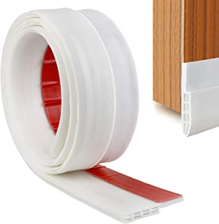 YOUSHARES Door Bottom Seal Rubber Strip - Self-Adhesive Draught Excluder, Under Door Sweep Weather Stripping, Anti-Noise, ...