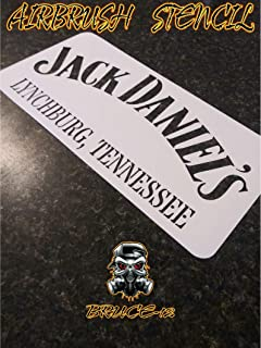 Jack Daniel's Airbrush Stencil For painting Barrel side 11
