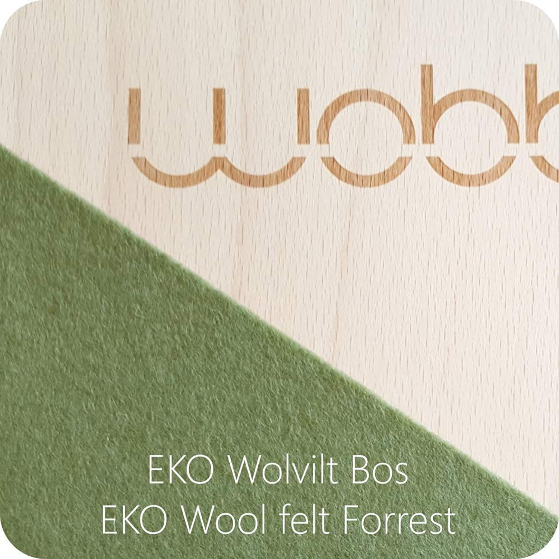 XL Wobbel Balanceboard transparent lackiert forest grün yogaboard