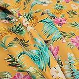 Orange Farbe Ananas Muster bedruckt Velours Samt Polsterung